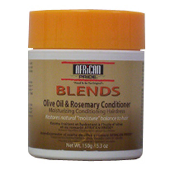 African Pride Blends Olive Oil & Rosemary Conditioner Moisturizing Conditioning Hairdress 5.3 oz