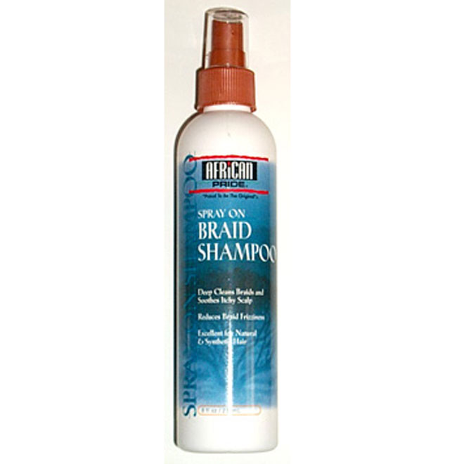 African Pride Braid Spray On Shampoo 8 oz