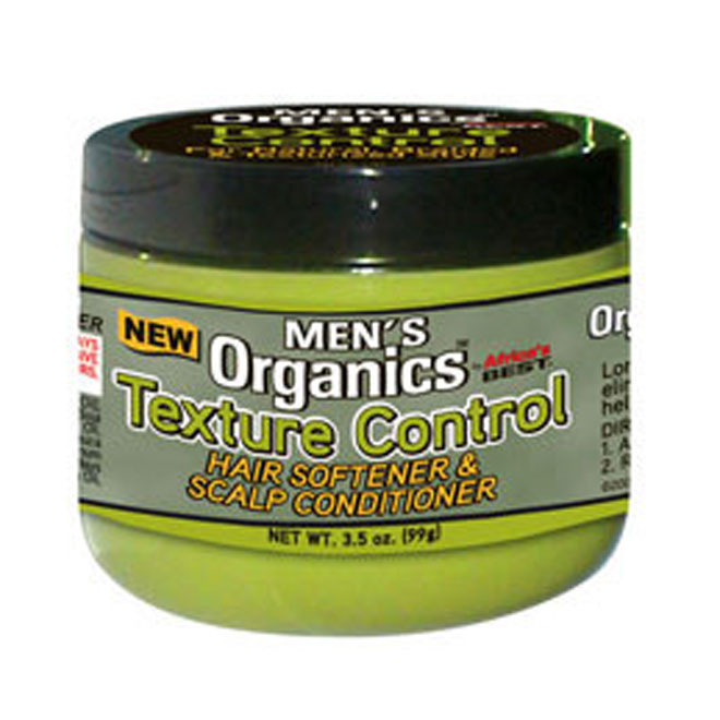 Africa's Best Men's Organics Texture Control Hair Softener & Scalp Conditioner 3.5 oz