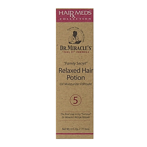 "Dr.Miracle's ""Feel It"" Formula Relaxed Hair Potion 5 Oil Moisturizer Formula 6oz"