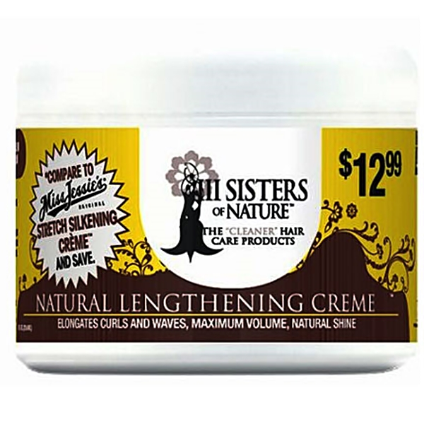 III Sisters of Nature hair care products NATURAL LENGTHENING CREME 8oz