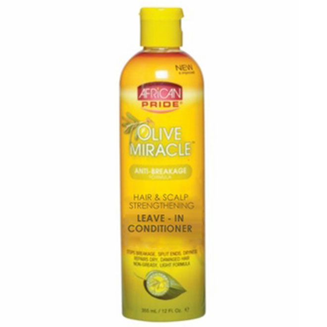 African Pride Olive Miracle Hair & Scalp Leave-in Conditioner 12 oz