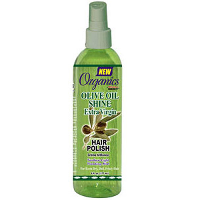 Africa's Best Organic Olive Oil H/POL Shine Extra Virgin Hair Polish Spray 6 oz