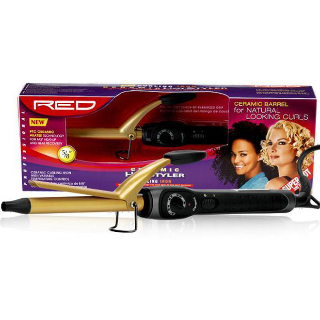 RED BY KISS CERAMIC CURLING IRON