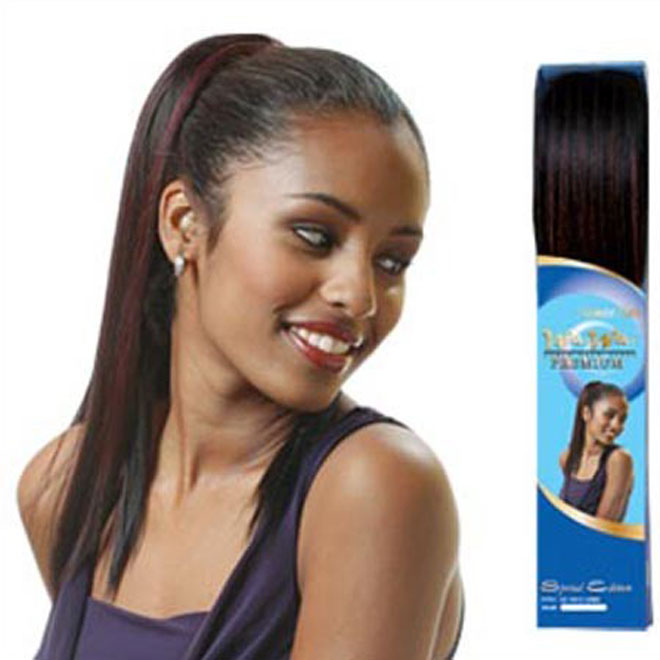 Uniko Human Hair Blend Drawstring Ponytail SE - YAKI LONG