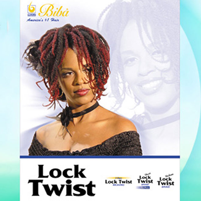 Biba Synthetic Braid - SHORT LOCK TWIST BRAID