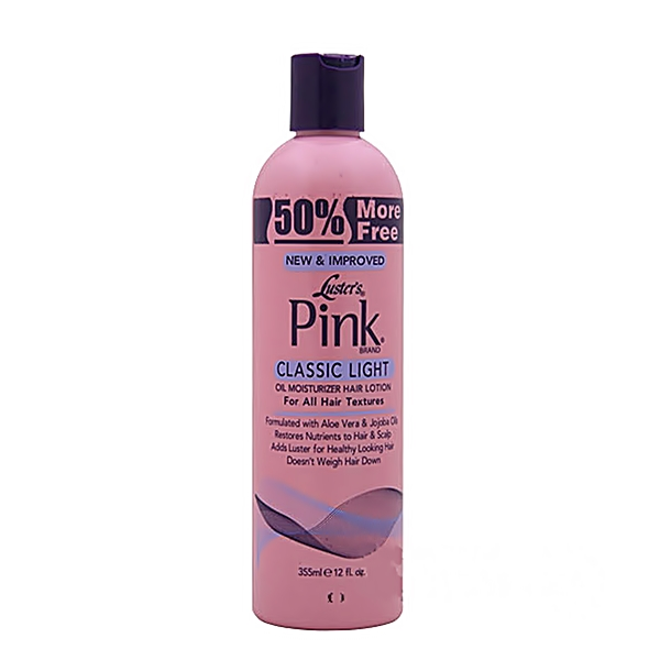 Luster's Pink Classic Light Oil Moisturizer Hair Lotion 12oz