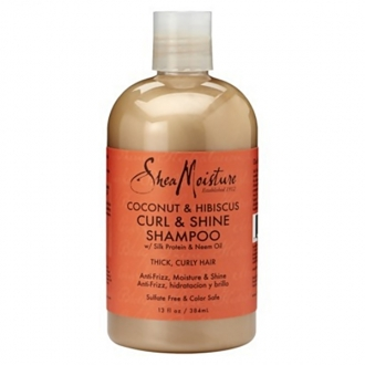 SheaMoisture CURL & SHINE SHAMPOO(Coconut & Hibiscus) 13oz