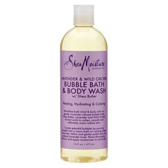 SheaMoisture BUBBLE BATH & BODY WASH(Lavender & Wild Orchid) 16oz