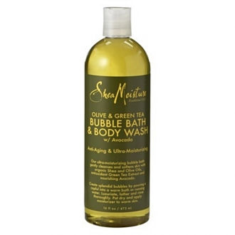 SheaMoisture BUBBLE BATH & BODY WASH(Olive & Green Tea) 16oz