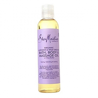 SheaMoisture BATH, BODY & MASSAGE OIL(Lavender & Wild Orchid) 8oz