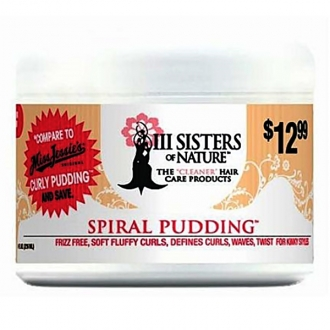 III Sisters of Nature hair care products SPIRAL PUDDING 8oz