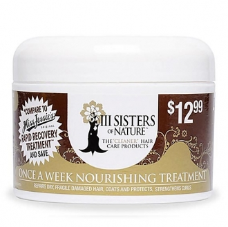 III Sisters of Nature hair care products ONCE A WEEK NOURISHING TREATMENT 8oz