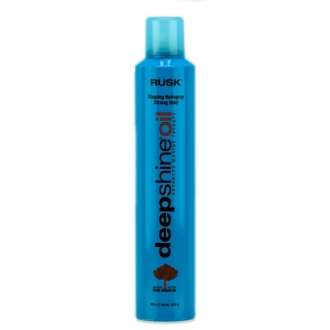 Rusk Deep shine Oil Finishing Hairspray Extra Strong Hold 10.6 oz.