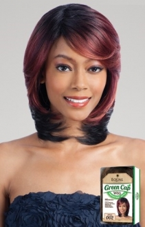 EQUAL GREEN CAP WIG - 002