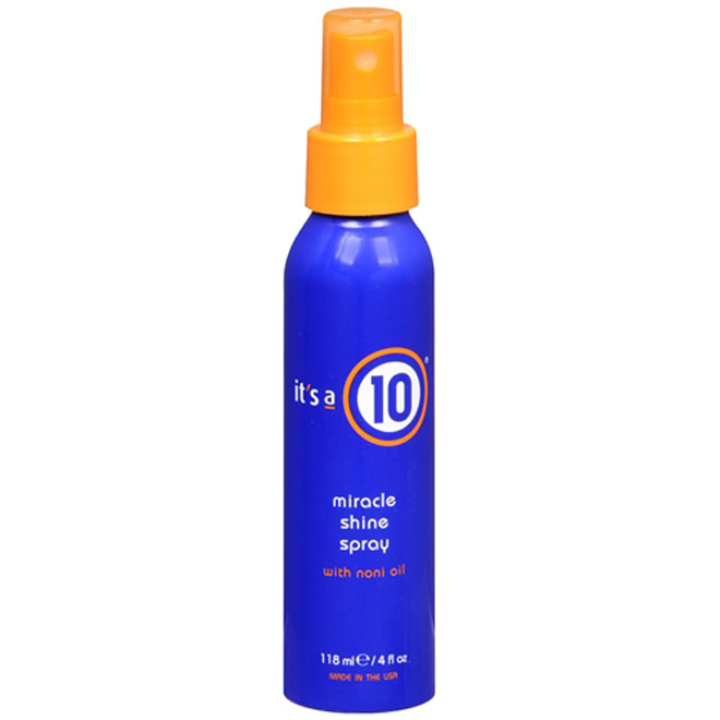 it's a 10 miracle shine spray with noni oil 4 fl oz (118 ml)