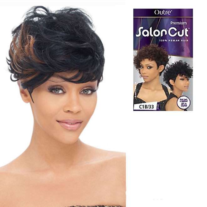 Outre Salon Cut 100% Human Hair Weave - Feather Cut